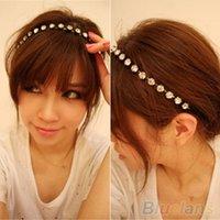 Wholesale Women s Crystal Metal Rhinestone Head Chain Jewelry Headband Head Piece Hair Band S7W