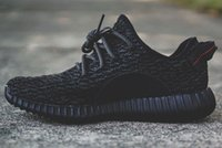 Cheap Classical Mens Womens Yeezy Boost 350 Low Pirate Black Kanye West Running Shoes Discount for Men Women Free Shipping