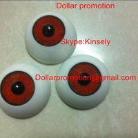 best halloween crafts - 2016 Best selling Acrylic Doll Bear Craft Plastic Eyes Eyeball Half Round MM RED COLOR Eyeball Zakka Halloween DIY Eyeball