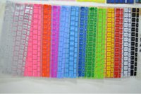 Wholesale colorful soft silicone Macbook keyboard cover skin for Macbook air Mac Pro inch