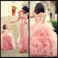 Cheap New Arrival Ball Gown Children Flower Girl Dresses Bow Sash Beaded Appliques Tulle Pink Flower Girl Dresses For Weddings 2014