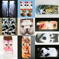 Wholesale Wholesales D Print Animal Socks Casual Cute Charactor Socks Unisex Boat Socks For Girls and Boys YK0043 salebags