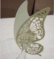 wine glass - 50pcs New Hot Butterfly Paper Place Card Escort Card Cup Card Wine Glass Card Paper for Wedding Par Wedding Favors