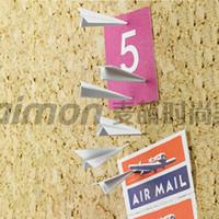 airplane push pins - Metal Paper Airplane Pushpins Creative Thumbtack Flying Pushing Drawing Pin Sets
