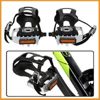bicycle pedals toe straps - Top Quality Aluminium Alloy Bike Pedals MTB Road Cycling Mountain Bicycle Pedals with Toe Clips and Straps Inch Axle