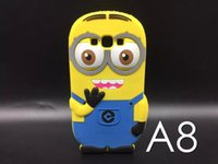 asus stylus - 3D Cartoon Minions Soft Silicone Case For Asus Zenfone laser ZE550KL Samsung Galaxy A8 Moto G3 LG G4 stylus LS770 Huawei Ascend Y625 skin