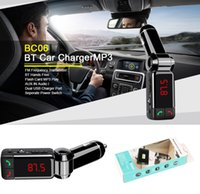 Wholesale Hot Sale BC06 Bluetooth Car Charger Hands free Charger MP3 Player mini Dual Port AUX FM Frequency Transmitter VS BC08 BC09 BT66 G7 Car Kit