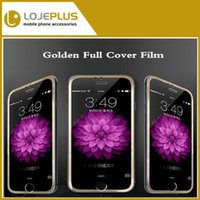 Wholesale IN Stock For iPhone Screen Protector GOLD mm Premium Tempered Glass pelicula de vidro inch Protective Full Cover Film