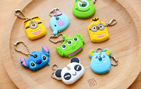 key covers - NEW High Quality Cute cartoon Despicable Me Minions Key smart cover Keychain key chain key ring wedding favors key chain wedding gifts HH02