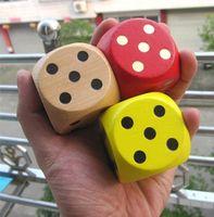 gambling game - Big Seven Colours Wooden Dice cm Family Board Desktop Gamble Game Toy pc