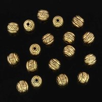 alloy metal sculptures - OMH jewelry The golden the metal stripe sculpture interval beads suitable for jewelry ZL245