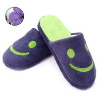 Wholesale Support Smiley cartoon couple cotton slippers home floor slippers