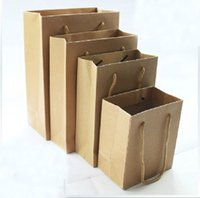 Cheap Gift bag 32*12*44(CM) size Paper gifts bag brown Kraft gift bag with handle ST-09 Wholesale price