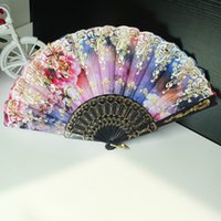 plastic hand fan - Chinese Silk Hand Fans Vintage Wedding Fan Colors Bridal Accessories New Party Dresses or Stage Wear Accessories Women Folding Fan
