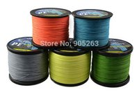 Wholesale Available M GREEN YELLOW GRAY Orange Blue PE BRAIDED FISHING LINE Fishing Tackle strands