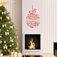 Removable arts kids christmas - Christmas home decorations wall stickers xmas window decoration stickers