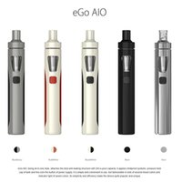 Cheap 100% Original Joyetech eGo AIO Starter Kit Blak White Grey Cheapest Authtic Electronic Cigarette Kit LED illumination 1500mAh Battery