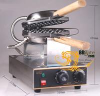 achat en gros de gaufre pan maker-Livraison gratuite! FY-6 Machine de moule à la gaufre à gaufres électriques Eggette Wafer Waffle Egg Makers Machine de cuisine Applicant 110v / 220v