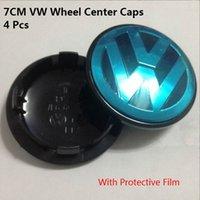 Wholesale 4 mm VW Volkswagen Alloy Wheel Center Caps CM VW Wheel Center Cover For Touareg T4 T5 Transporter L6 B