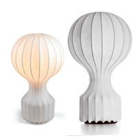 bedside lamp design - Flos Gatto Table lamp White Silk Desk light Flos Design Bedside Lighting Fixture AC V V