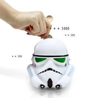 Wholesale Cartoon Star Wars Iron Man Helmet Piggy Bank Star Wars Jedi Knight Darth Vader Clone Stormtrooper Action Figure Toy Christmas Gifts
