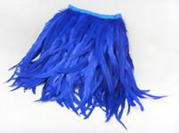 chicken - 5m Rooster Feather Strip Black Blue Yellow Feather Strip Feathers Boa Wedding Feathers Prom Skirt Dress DIY
