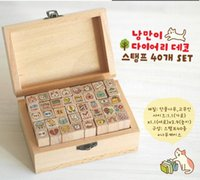 stamps - Wooden Stamps creative stationery cute cat suit seals Cute cartoon wooden decoration seal Pic