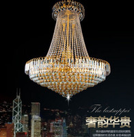 Wholesale Royal Empire Golden Crystal chandelier Light French Crystal Ceiling Pendant Lights