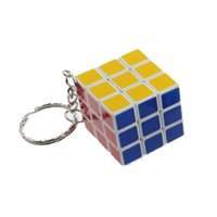 Wholesale Magic cube x3x3 Three centimeters mini third order cube with keychain