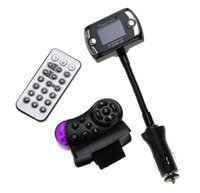 Wholesale New Design A2DP Car Kit Wireless Bluetooth FM Transmitter MP3 Player USB For SD LCD Remote Handsfree