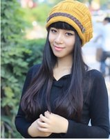 Wholesale Qiu dong han edition fashion lady warm earmuffs knitting hat man edge belt hat hat