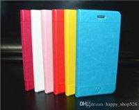 Caja de cuero de la carpeta para el iphone 6 Aire 6G 4.7