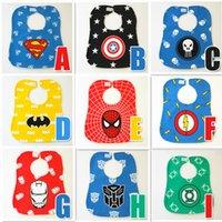 baby bibs and burp cloths - 9 Style cartoons bibs new baby girls and boys cartoon Superhero Movie The Avengers waterproof bibs burp cloths B001