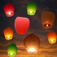 Mariage Ballon ovale forme Sky Lanternes, souhait Lampe Kongmin Lumières pour le Festival / 9 couleurs en option