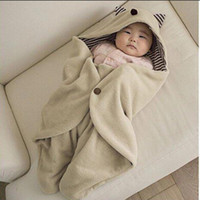 Wholesale Hot Sale Fashion Newborn Monster keep warm Hooded Bathrobe Blanket Swaddle Wrap multifunctional Baby Sleepsack