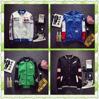 baseball jackets for sale - 2016 sale hoodies for women Men s fashion vertical stripes embroidered baseball banana rabbit coat jacket clothes