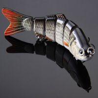 Wholesale Lifelike Jointed Sections Swimbait Fishing Lure Crankbait Hard Bait Fish Treble Hook Fishing Tackle cm g