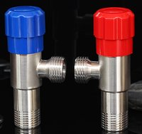 Wholesale Angle Valves Double Filling Valve stainless steel Dual control of hot and cold Extended stop valve