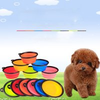 Wholesale Collapsible Travel Bowl for Dogs Silicone Handy Bowl Dog Water Feeders Compact Portable Cups Pet Supplies