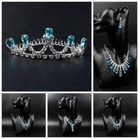 Cheap Frozen sets Best Crown Necklace Earrings