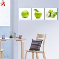 Cheap paintings for the kitchen cuadros decor modular paintings posters and prints cheap modern canvas art wall panels for living room green apple
