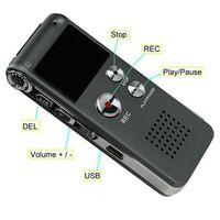 Wholesale players ac Professional Mini Rechargeable Dictaphone gravador de voz Caneta GB Activated USB Digital Audio Voice Recorder Pen MP3 Player
