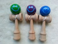 Wholesale 150pcs mini smile happy face New games MINI kendamas cm Sword ball skills ball wooden toys kendama Japanese art toys for all ages