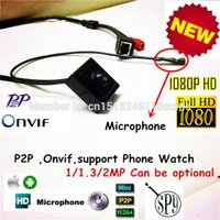 Wholesale H Onvif quot Ultra low Lux Super Hidden Minature P Full Hd Mini Audio Video Ip Camera MP IP Camera With Microphone