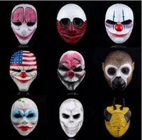 bar back pay - Men Pay Day Masks Cool Resin Masquerade Masks Halloween Party Masks for Bar Club Outdoor Activities Show Masks