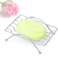 Wholesale 2015 Hot Sale Piece Fashion Brief Stainless Steel Bathroom Soap Dishes Box Holder Tray