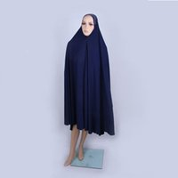 muslim lady scarf - New Arrival Islamic Batwing coat With Cap Muslim Attached to cloak of scarf unlined upper garment Ladies Bat shirt colors HR Q007