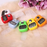 Wholesale 1 PC Practical Mini Color Digit LCD Electronic Digital Finger Held Ring Tally Counter L0192623