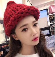 Wholesale 2015 Price fashion knitted crochet women knitted hat bucket hat for girl winter warm cap woman fashion hat