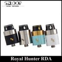 Replaceable Metal unkown Rebuidable DIY Royal Hunter RDA Clone Atomizer Wide Bore Drip Tip 22mm Diameter 510 Thread fit 18650 Size Mechanical Mods DHL Free